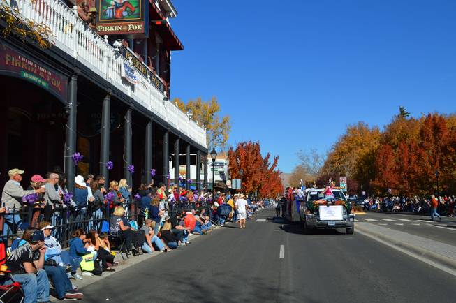 People watch the Nevada Day parade in Carson City on Oct. 26, 2013.