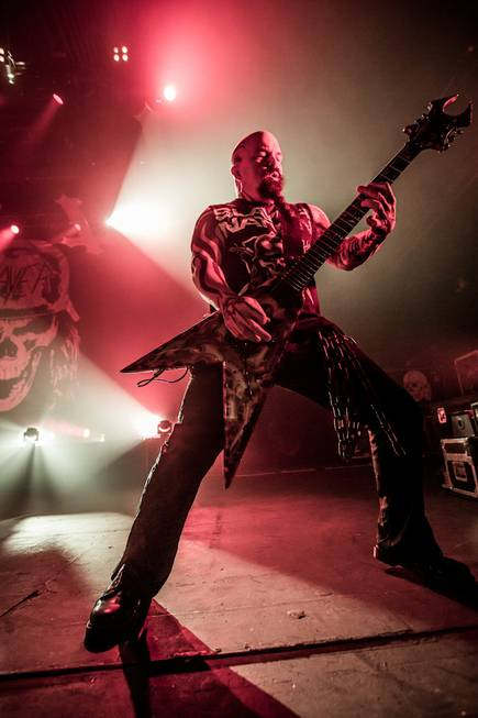 Slayer performs at the Joint on Friday, Oct. 25, 2013, ...
