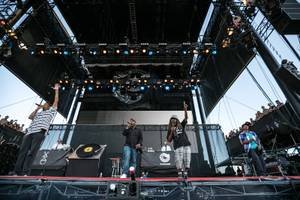 Jurassic 5 at the Life Is Beautiful Festival in downtown Las Vegas, Oct. 26-27, 2013.