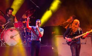 The Killers close out Day 2 of Life Is Beautiful on Sunday, Oct. 27, 2013, in downtown Las Vegas.