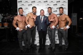 Ryan Stuart, Jaymes Vaughan, Ross Mathews, James Davis and Sami Eskelin at Chippendales in the Rio.
