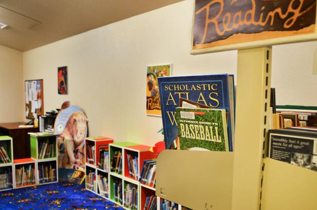 Community Chest, a Virginia City nonprofit group, opened a children's book nook, shown here. The Storey County Public Library closed in 2012.