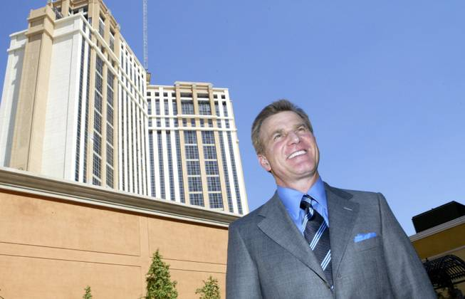 "In this Sept. 6, 2007, file photo, Rob Goldstein announces the opening of the new 40/40 Club at The Palazzo at the Venetian Resort Hotel Casino in Las Vegas. Goldstein, president of global gaming operations for Las Vegas Sands, says casino companies would be at a ""significant competitive disadvantage"" if they didn't offer credit in Las Vegas, the home of high-end gambling in the U.S."