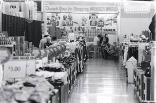 An interior view of Wonder World retail center on Maryland Parkway in 1981.