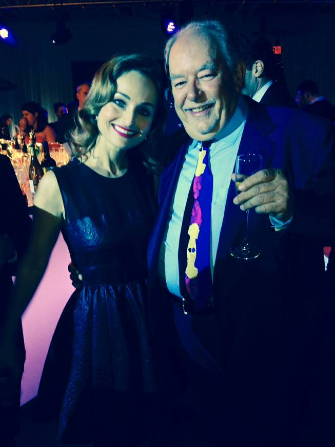Giada De Laurentiis and Robin Leach in New York on Thursday, Oct. 17, 2013, for the Food Network's 20th anniversary.