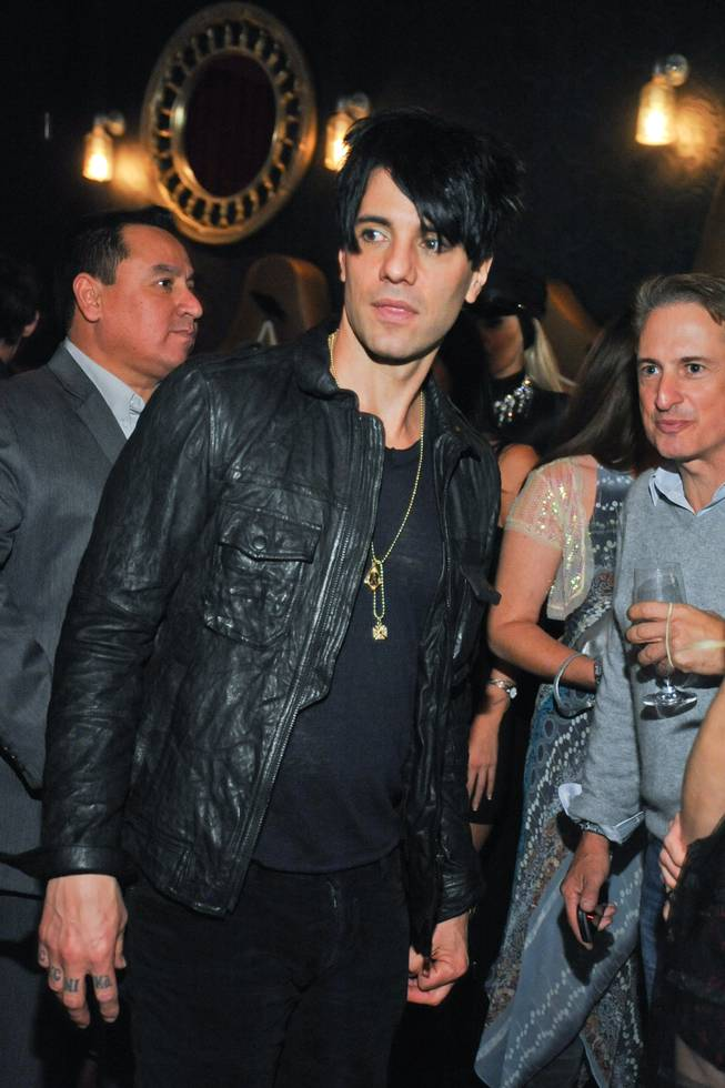 "Criss Angel celebrates the fifth anniversary of his Cirque du Soleil show ""Believe"" at the Luxor on Wednesday, Oct. 30, 2013, at a party at Rx Boiler Room in Mandalay Place."