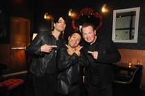 "Criss Angel, with Maestro and Nathan Burton, celebrates the fifth anniversary of his Cirque du Soleil show ""Believe"" at the Luxor on Wednesday, Oct. 30, 2013, at a party at Rx Boiler Room in Mandalay Place."