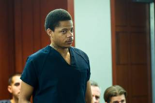 Gary Lee Hosey Jr. appears in court at the Regional Justice Center for Sentencing, Friday, Nov. 1, 2013. Hosey was the driver of a car that crashed into a bus stop and killed four while injuring eight in September 2012.