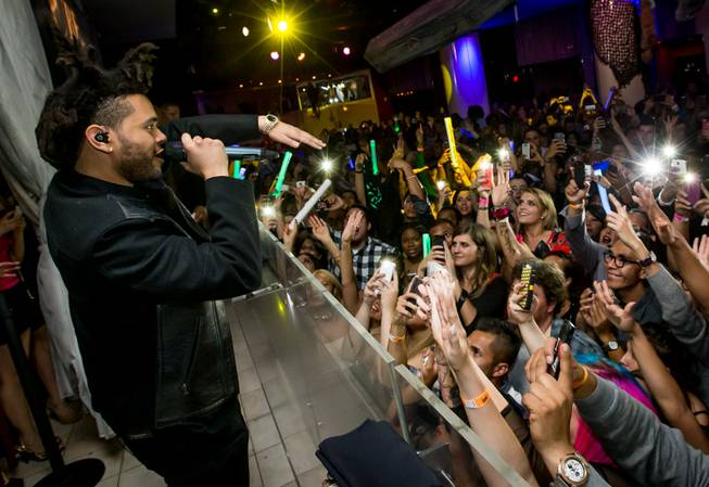 The Weeknd makes his Las Vegas debut Saturday, Nov. 2, ...