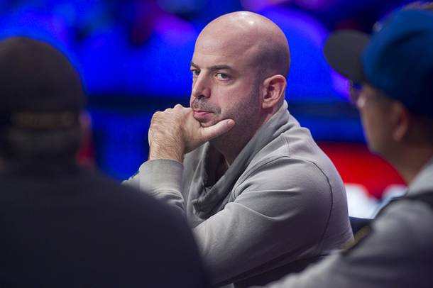 Amir Lehavot, 38, an Israeli currently residing in Weston, Fla., competes during the final table of the World Series of Poker $10,000 buy-in no-limit Texas Hold 'Em tournament at the Rio Monday, Nov. 4, 2013.
