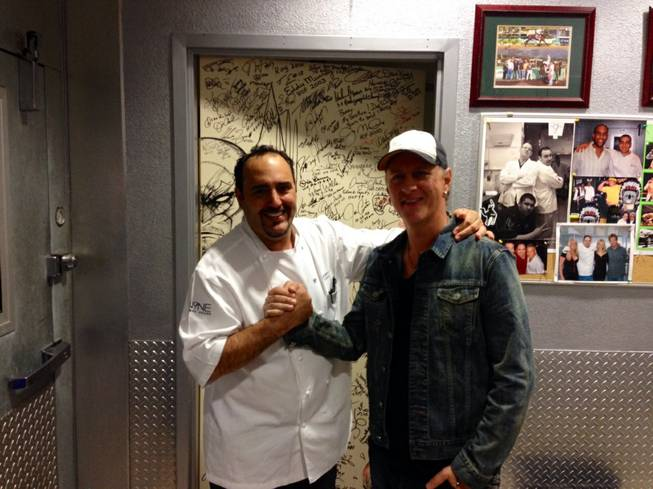 Barry Dakake and Jerry Cantrell at N9NE Steakhouse in the Palms.