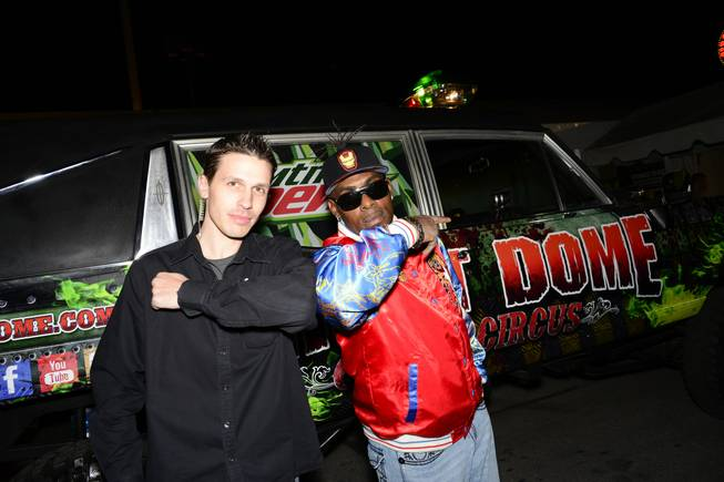 Jason Egan and Coolio at Fright Dome in Circus Circus.