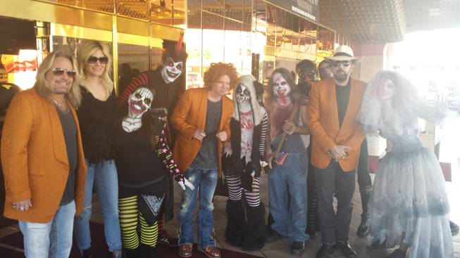 Vince Neil, Carrot Top, Nicolas Cage and friends at Fright Dome in Circus Circus.