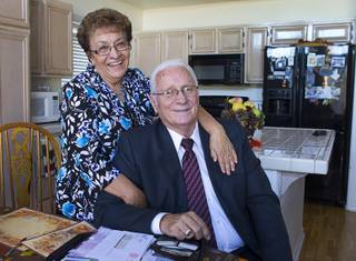 Gloria and Lanny Littlefield are shown in their home in Henderson Tuesday, Nov. 5, 2013. The couple will leave soon for a LDS church leadership mission in Knoxville, Tenn. The longtime Henderson residents married in 1964, a few months after graduating Basic High together.