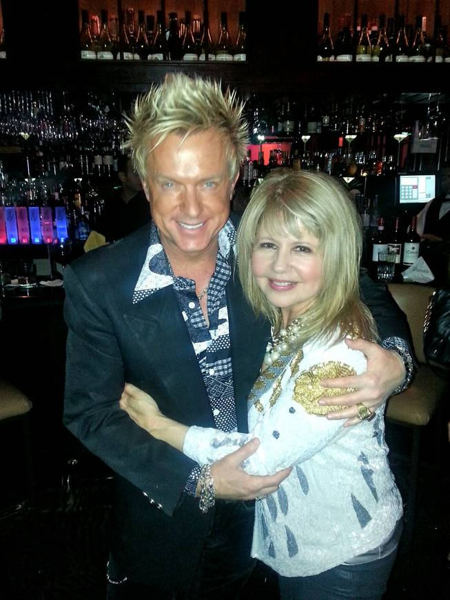 Chris Phillips and Pia Zadora.
