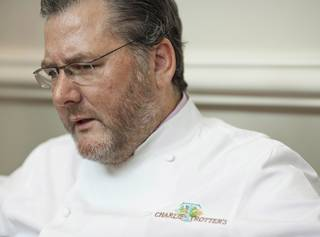 In this Aug. 28, 2012, photo, award-winning chef Charlie Trotter is seen at his restaurant in Chicago. Officials in Chicago said Tuesday, Nov. 5, 2013, that Trotter has died.