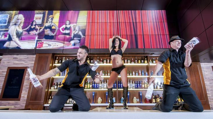 OneBar underwent a makeover to include a large LED video screen, and an expanded bar area to allow its flair bartending team amaze patrons.