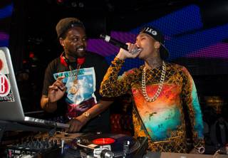 Rapper Tyga at the Lexani SEMA party on Wednesday, Nov. 6, 2013, at the Hard Rock Hotel Las Vegas.