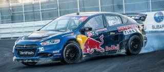 The 2013 Global Rallycross finals at Festival Grounds on Wednesday, Nov. 6, 2013, across from the Luxor.