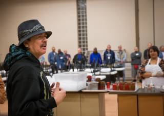 Carlos Santana at the Las Vegas Rescue Mission on Tuesday, Nov. 5, 2013.