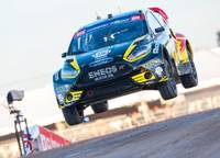 The 2013 Global Rallycross finals at Festival Grounds on Thursday, Nov. 7, 2013, across from the Luxor.
