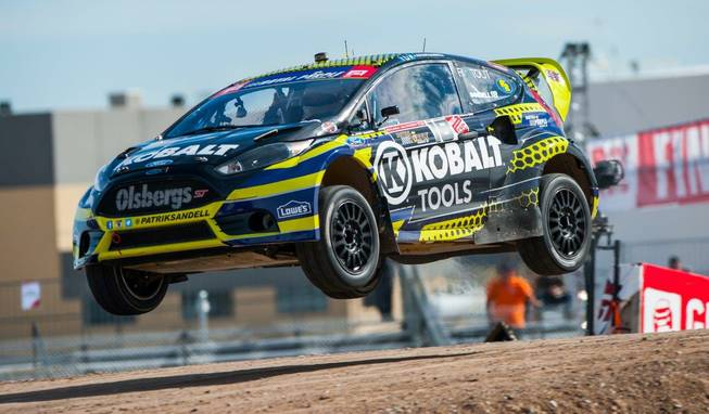 The 2013 Global Rallycross finals at Festival Grounds on Thursday, ...