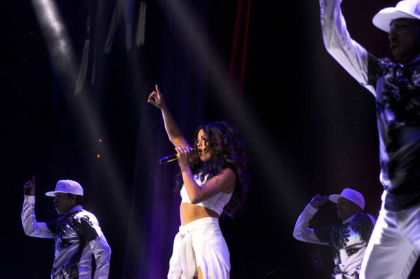 Selena Gomez performs during her Stars Dance tour stop Saturday, Nov. 9, 2013, at Mandalay Bay Events Center.