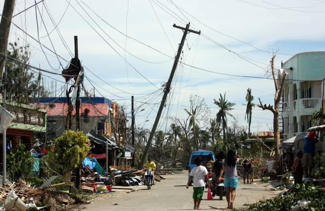 Daanbantayan town, north Cebu, Central Philippines after super typhoon Yolanda hit.