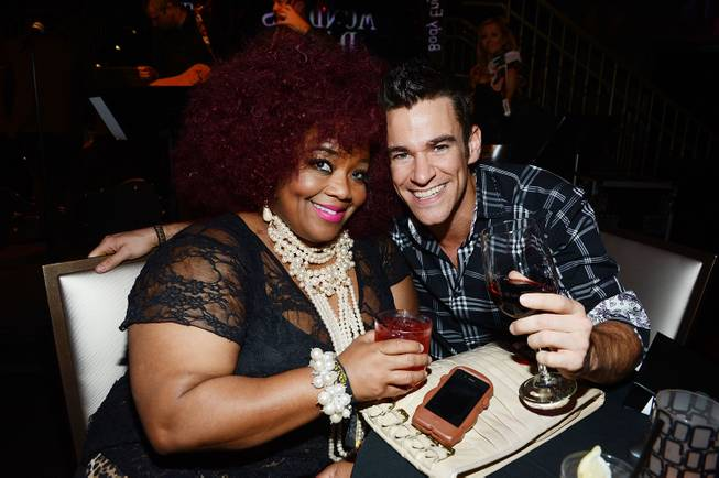 "Skye Dee Miles and Jeff Civillico attend Mark Shunock's debut ""Mondays Dark"" benefiting Opportunity Village on Monday, Nov. 18, 2013, in Body English at the Hard Rock Hotel Las Vegas."