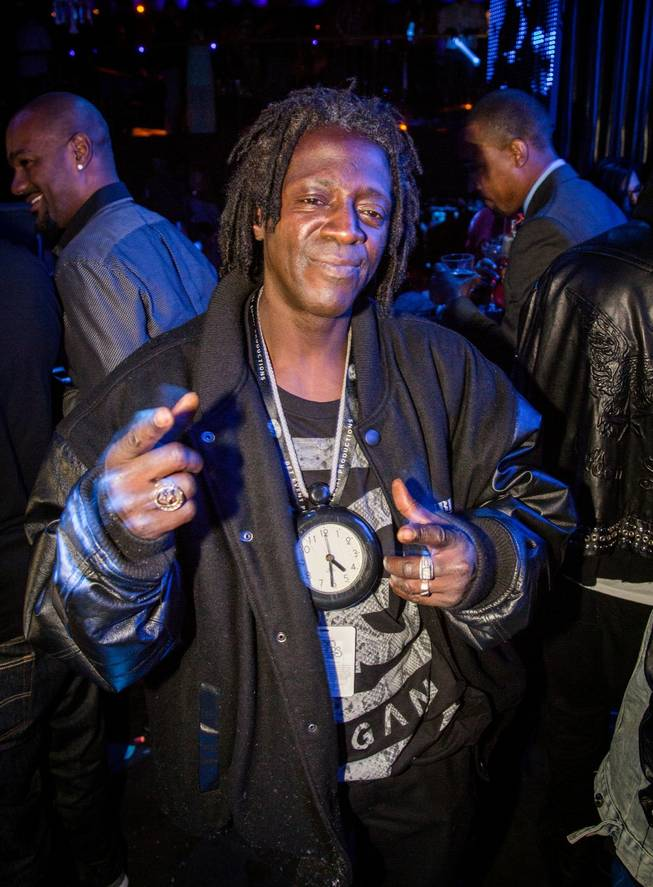 Flavor Flav at Body English in the Hard Rock Hotel Las Vegas.