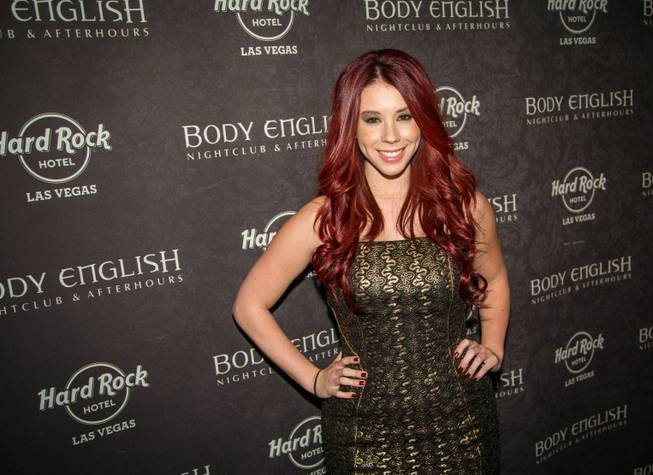 Jillian Rose Reed at Body English in the Hard Rock Hotel Las Vegas.