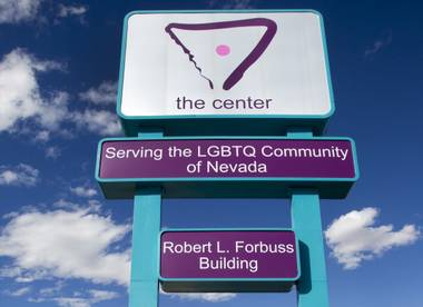 A marquee sign is shown in front of the Gay and Lesbian Community Center of Southern Nevada, 401 S. Maryland Parkway on Monday, April 1, 2013.