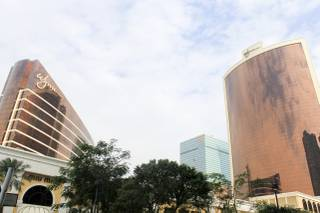 The Wynn Macau and Encore towers, looking fairly familiar.