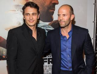 "James Franco and Jason Statham attend the premiere of ""Homefront"" on Wednesday, Nov. 20, 2013, at Planet Hollywood."