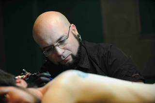 "Walter ""Sausage"" Frank of Las Vegas competes on Season 4 of ""Ink Master"" on Spike."
