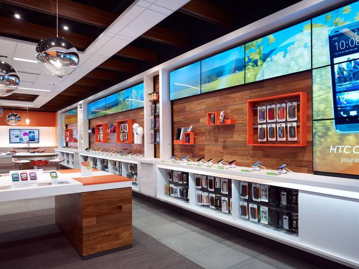 The AT&T Store is part of a $200 million make over of AT&T networks