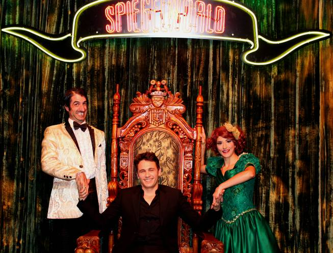 "The Gazillionaire, James Franco and Penny Pibbets at ""Absinthe"" on Wednesday, Nov. 20, 2013, at Caesars Palace."