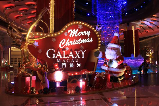 Holiday display at Galaxy Macau Resort Wednesday, Nov. 20, 2013.