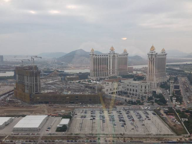 A view of the construction of Galaxy Macau on the Cotai Strip.