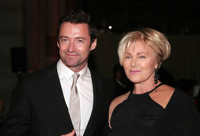 Actor Hugh Jackman and his wife, actress Deborra-Lee Furness, attend the 2013 New Yorkers for Children Fall Gala on Tuesday, Sept. 17, 2013, in New York.