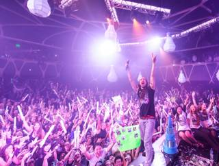 Steve Aoki celebrates his 36th birthday on Sunday, Nov. 24, 2013, at Hakkasan Las Vegas at MGM Grand.