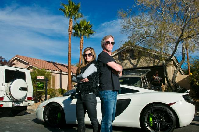 "Scott and Amie Yancey of A&E's ""Flipping Vegas"" on Tuesday, Nov. 26, 2013."