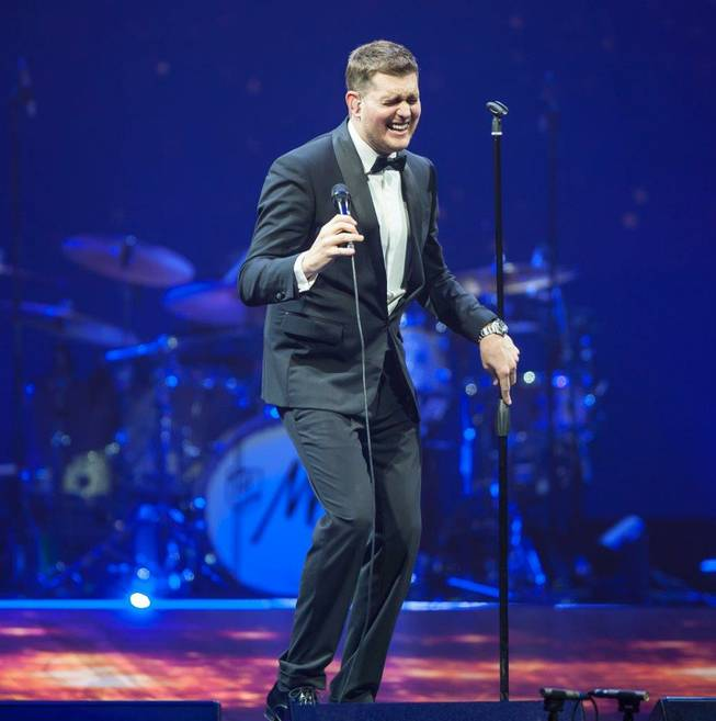 Michael Buble performs at MGM Grand Garden Arena on Saturday, Nov. 23, 2013, in Las Vegas.
