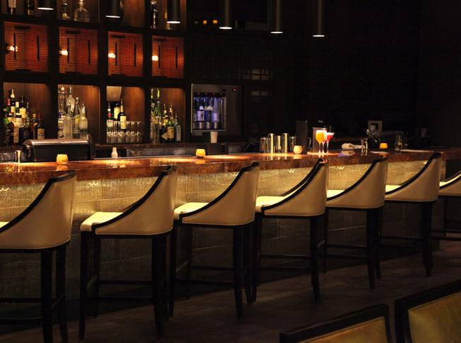 The bar at Social House in Crystals at CityCenter.