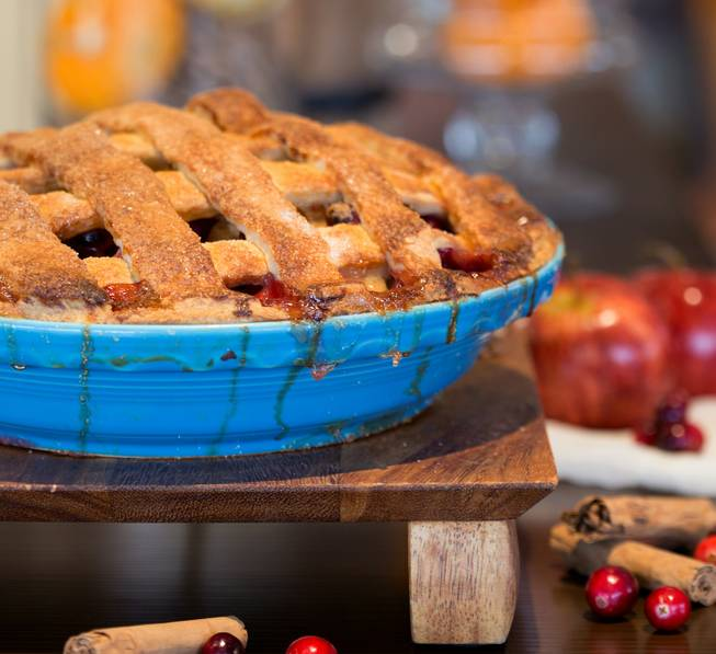 Megan Romano's apple-cranberry pie.