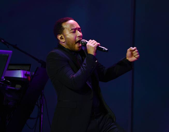 John Legend performs at Pearl at the Palms on Saturday, Nov. 30, 2013.