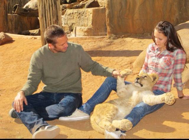 Paul Walker and Aubrianna Atwell on vacation in Johannesburg, South Africa, in 2011.