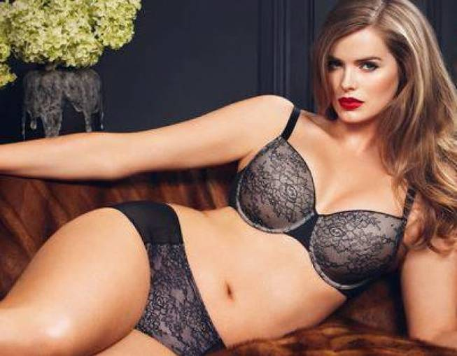 Plus-size model Robyn Lawley.