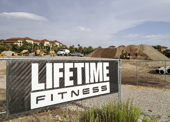 Life Time Fitness, a Minnesota-based health club chain, is building an $8.5 million facility next to the Green Valley Ranch Resort in Henderson, as seen on Dec. 3, 2013.