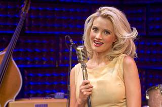 Holly Madison poses after a guest performance in